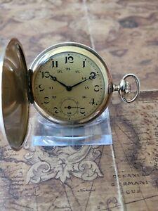 schöne Gold Double Jubiläums Taschenuhr mit schönem Uhrwerk