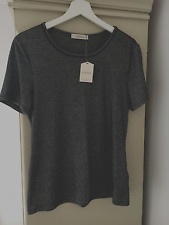 OASIS Metallic silver fitted T-shirt Size M