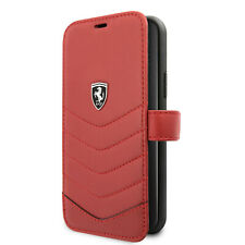 FERRARI iPhone 11 Heritage Collection Tasche Book Case GENUINE LEATHER Rot