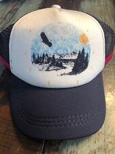 Roxy Snapback Cap True Mountains Eagle Youth Navy Pink White Roxy Hat