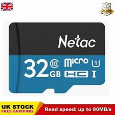 32GB Memory Card Micro SD TF Card C10 Flash Data Storage UHS-1 80MB/s Durable UK