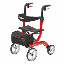 Drive Medical Nitro Euro Style Red Rollator Walker - Red