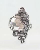 9901719 925er Silber Ring nach Mucha Jugendstil-Schönheit Gr.55