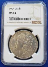 1904-o US 90% Silver Morgan $1 NGC MS63 L7182
