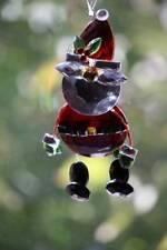 Christmas Ornaments Acrylic Crystal Santa With Legs Sun Catcher By Ganz