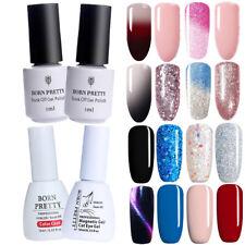 2Pcs Nail Art UV Gel Polish Glitter Sequins  Tips Changing Soak Off Gel Kit