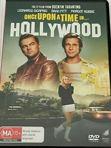 Once Upon a Time in Hollywood  Leonardo DiCaprio, Brad Pitt DVD Like New