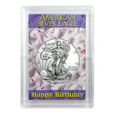 2018 $1 American Silver Eagle HE Harris Holder - Happy Birthday Design