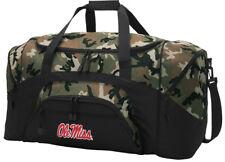 Ole Miss Duffel BAG CAMO Gym Bags Suitcase LOADED w/ POCKETS