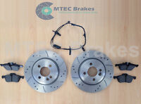 Mini R50 R53 R52 ONE Cooper S 01-06 Front Brake Discs with Pads & Wear Leads