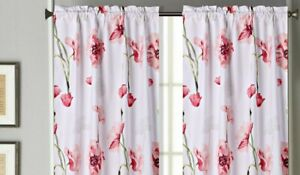 """NEW 2 PANEL LINED BLACKOUT WINDOW FLORAL PRINTED CURTAIN ROD POCKET 2X26""""X36"""" L"""