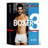 LOTTO LB1005 Boxer Uomo Cotone Elasticizzato - 3 PEZZI