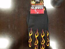 Hot Leathers Mechanics Gloves 2XL black Flames  - biker accessories
