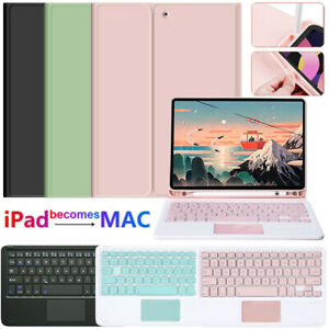 """Bluetooth Touchpad Keyboard Case For iPad 10.2"""" 7/8th 5/6th Gen 9.7"""" Air 4 10.9"""""""