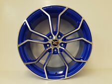 "4 x 18"" ALLOYS FLOWFORM BLUE WHEELS - 5/114 ET40 NISSAN,TOYOTA,MITSUBISHI"