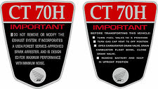 CT70H K1 CT70H 70,71,72  frame decals, graphics, frame warning    RED