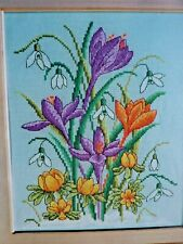 L Spring Flowers Snowdrops Buttercups Hellebore Snowberries Cross Stitch Chart