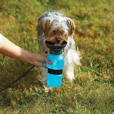 Pet Dog Cat Portable Plastic Feeding Bowl Travel Water Bottle Dispenser Feeder