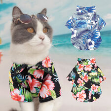 Summer Dog Polo T Shirts Floral Sun Protection Lightweight  Air Beach Dog Vest