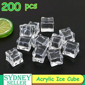 200pcs Clear Fake Acrylic Ice Cube Artificial Wedding Party Photography Display