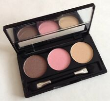 Manhattan Trio Eyeshadow 03 Downtown To Earth Brown Nude Pink Rose Blush Cream