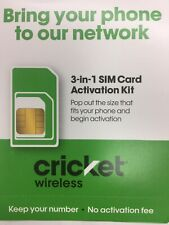 Cricket Wireless Prepaid Sim Card with $30.$40.$55.$60. Plan 1st Month Include.