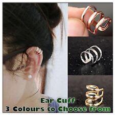 Unisex Fashion Jewelry Punk Rock Ear Clip Cuff Wrap No piercing-Clip On Earring