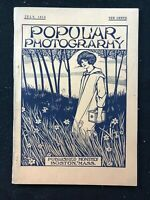 POPULAR PHOTOGRAPHY Magazine - July 1913 - Art Deco Style Cover