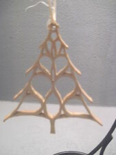 Primitive Holiday Scroll Saw  Christmas Trees Ornament