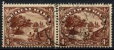 South Africa 1936 SG#46c, 4d Native Kraal Used Horiz Pair #D55829