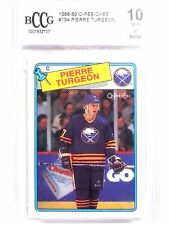 1988-89 O-Pee-Chee OPC Pierre Turgeron #194 rc rookie BCCG 10 MINT *63853