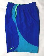 "Nike 9"" Volley Men's Swim  Shorts NESS7446 Blue Size  M L 2XL NWT"