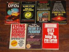 Lot of 7 vintage UFO FLYING SAUCER ALIEN ABDUCTION paperbacks