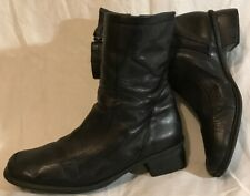 Clarks Black Mid Calf Leather Lovely Boots Size 6.5 (570Q)