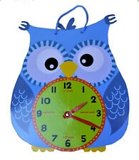Kids Learning Clock Owl Clock Children's Early Learning Tell The Time Owl Clock