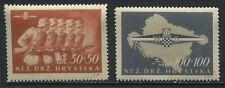Croatia Semi-Postal set of 2 mint o.g. hinged