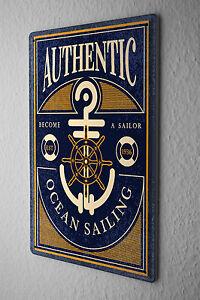 Tin Sign Oceans Ocean Sailing