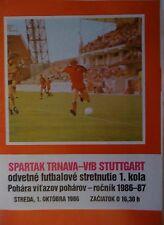 Programma EC 1986/87 Spartak Trnava-VfB Stoccarda