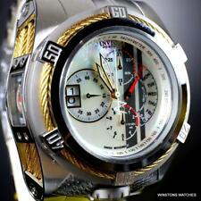 Invicta Reserve Bolt Zeus Tria Swiss Mvt Steel White MOP 3 Dials Watch 56mm New