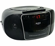 More details for bush cd radio cassette boombox with radio - black/silver kbb500 r