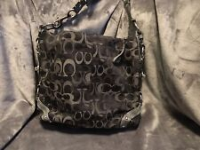 Coach No 10926-F13881 Black and Gray with Chrome large purse