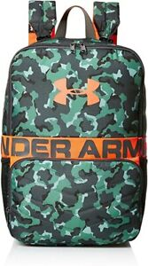 Under Armour Unisex Make Your Mark Backpack - Aegean Green/Neon Coral -One Size