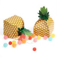 12/60×Pineapple Box Candy Gift Box Bag Luau Tropical Hawaiian Theme Party Favor