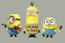 Set 3 Minions Car Stickers LITTLE MINIONS ON BOARD  Window Truck Laptop Baby
