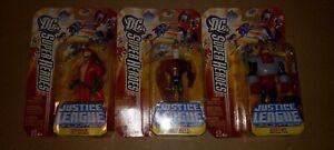 "DC Super Heros Justice League Unlimited 4.5"" Metamorpho + Copperhead+ Rocket Red"