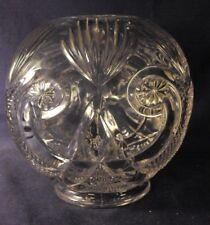 "EAPG rosebowl Starred Scroll pattern crescent and fan rose bowl 5.5"" B8"