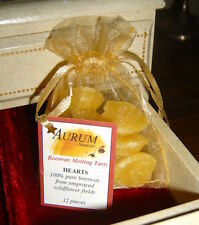 Handmade 100% Natural Beeswax Melting Tarts - hearts