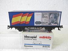 MES-37535 Märklin 84575 H0 Containerwagen Europa 1993 Spanien  sehr gut