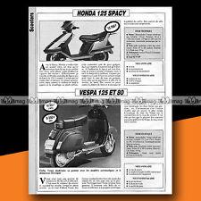 ★ HONDA 125 SPACY & VESPA 80 125 ★ 1985 Essai Scooter / Original Road Test #a783