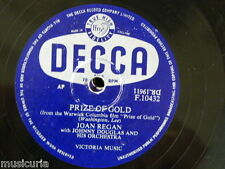 78rpm JOAN REGAN prize of gold / when you`re in love